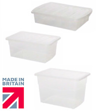 Small Large Clear Plastic Storage Boxes Container Stackable Box Unit Locking Lid