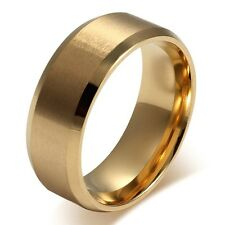18K Gold Plated Men's Ring For Boyfriend - Brand New