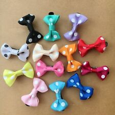 20PCS/LOT Handmade Pet Dogs dot Accessories Grooming Hair Bows Dogs hair clips