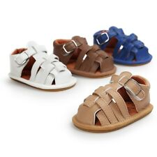 Baby Infant Kids Boys Girls Soft Sole Crib Toddler Summer Sandals Shoes 0-18M