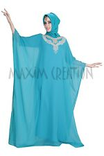 ELEGANT FANCY MODERN JILBAB ARABIAN PARTY WEAR GOWN FARASHA ARABIAN  DRESS 5429