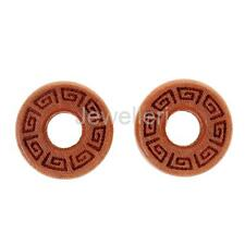 1 Pair Natural Wood Solid Double Flared Ear Plugs Tunnels Gauges Piercing