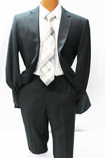 Angelo Rossi by Giorgio Cosani Black Pinstripe Modern Fit Suit Mens Suits