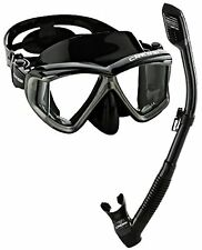 Cressi Panoramic Wide View Mask Dry Snorkel Set,- Choose SZ/Color.