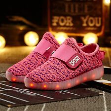Girls Boys Sneakers Luminous Shoes USB Charging LED Light Kids Shoes Traniers
