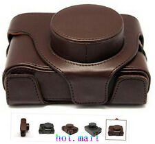 Brown Leather Camera Hard Case Bag Cover For Fujifilm Fuji X10 X20 Finepix