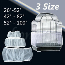 3 Sizes White Seed Catcher Guard Nylon Mesh Bird Cage Tidy Cover Skirt Cage