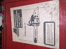 McCulloch Chainsaw 1985 OPERATION MAINTENANCE SAFETY MANUAL DOUBLE EAGLE 50 OG