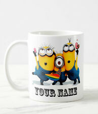 Minion party Despicable Me Personalised Name Mug Coffee Tea Birthday Gift