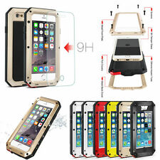 Waterproof Shockproof Aluminum Durable Glass Case Cover For Samsung /iPhone 7/6S