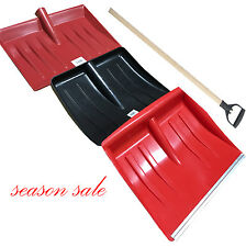 Box of 12 Snow Shovel Wooden Handle Pusher Scoop Spade Mucking Out Metal Edged