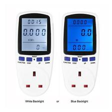 Plug-in Digital Energy Meter Wattage Volt Current Frequency Monitor LCD Display