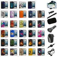 For iPhone 5S 5 5G Hard Snap-On Design Rubberized Skin Case Cover+8X Accessory