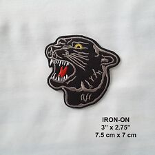 Black Panther Embroidered Cougar Feline Tiger IRON-ON Patch Wild Cat Applique