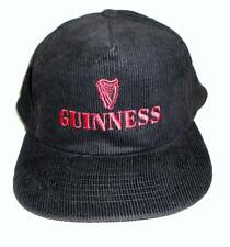 Guinness Lager Beer Embroidered Black Red Corduroy Baseball Cap Hat Snap Back