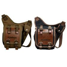 Men's Vintage Retro Canvas Casual Military Shoulder Messenger Travel Belt Bag