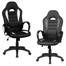 FineBuy office chair PRIO Racing Chefsessel Racer swivel 120 kg office armchair