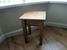 Handmade Rustic Wooden Small End Table / Side Table, Occasional Table