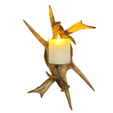 Faux Antler Wall Sconce 1 Glass Candle Light Rustic Wall Light Home Garden Lamp