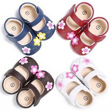 0-18M Toddler Baby Girls Flower Princess Shoes Soft PU Infant Non-slip Sandals