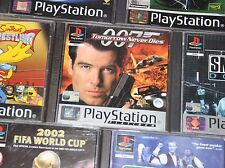 PS1 Games Bundle (Choose 1) - The Simpsons, 007, Fifa, PGA Tour Golf, Smackdown