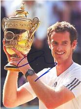 "ANDY MURRAY AUTOGRAPHED 8"" x 10"" PHOTO WIMBLEDON CHAMP SIGNED WITH PROOF"