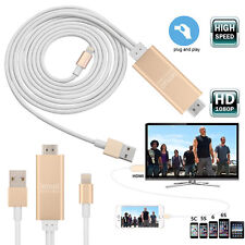 8 pin 2M Apple Lightning to HDMI HDTV AV Cable Adapter for iPhone 6 6S 5S 5