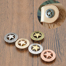 Western Conchos DIY Decor Saddle Belt Clothes Accessories Hardware Screw Back