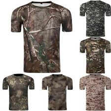 Men's Military Camouflage Quick Dry Short-sleeves T-shirt Summer Breathable New