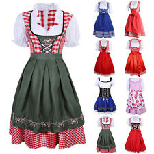 Multi German Bavarian Oktoberfest Dress Ethnic Vintage Dirndl Beer Maid Costume