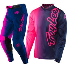 NEW 2017 TROY LEE DESIGNS GP AIR 50/50 PANT JERSEY COMBO PINK/NAVY + FREE NAME