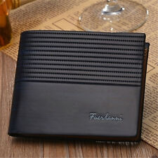 Men's Genuine Leather Bifold Wallet Vintage Coin Purse Short Card Holder
