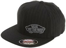 New VANS Off The Wall Suiting Style Pinstriped FlexFit Cap   Black RRP $49.95
