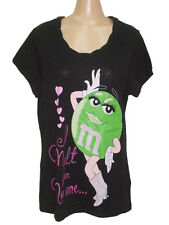NEW M&M'S M&M CANDY CHOCOLATE COTTON T-SHIRT TEE TOP L (12-14) / XL (16-18)