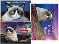 EDIBLE CAKE IMAGE GRUMPY CAT ICING SHEET PARTY TOPPER DECORATIONS