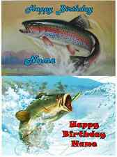 EDIBLE CAKE IMAGE  FISH BASS TROUT ICING SHEET PARTY TOPPER DECORATIONS