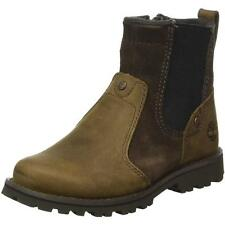 Timberland Asphalt Trail Junior Dark Brown Leather Chelsea Boots