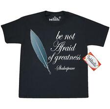 Inktastic Shakespeare Not Afraid Of Greatness Youth T-Shirt William Be Quote The