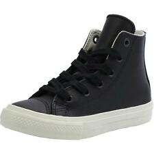 Converse Chuck Taylor All Star II Junior Black Leather Trainers