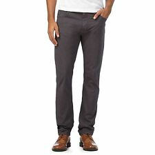 Rjr.John Rocha Mens Big And Tall Dark Grey Slim Trousers From Debenhams
