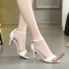 Sexy Womens High Heel Kitten Heels Pumps Ankle Strap Summer Casual Shoes Sandals