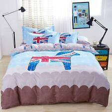 Single Queen King Bed Set Pillowcase Quilt Duvet Cover Stylish English Style CAU