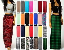 New Ladies Women Gypsy Long Jersey Maxi Dress Skirt Ladies Skirt Plus Size 8-26