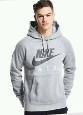 NEW MENS FLEECE NIKE AIR PULLOVER,ZIPPER HOODED SWEATTOP HOODIE  GREY,NAVY,P