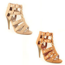 WOMENS LADIES GLADIATORS HIGH STILETTO HEELS ANKLE SANDALS SHOES SIZE 3-8