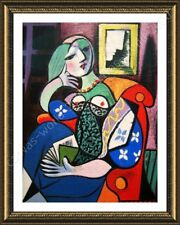 FRAMED Poster Woman With Book Pablo Picasso Framed Artwork Oil Painting Print