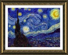 FRAMED Poster Starry Night Vincent Van Gogh Wall Art Pictures Framed Wall Art