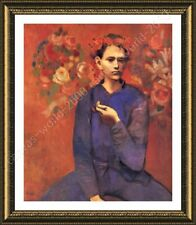 Alonline Art - FRAMED Poster A Boy With Pipe Pablo Picasso Framed Wall Art