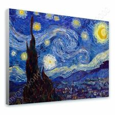 READY TO HANG CANVAS Starry Night Vincent Van Gogh Framed Wall Art For Bedroom