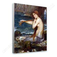 Alonline Art - READY TO HANG CANVAS A Mermaid Waterhouse Oil Painting Print